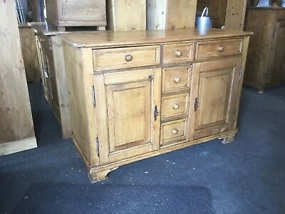 Antique Pine Dresser Base/ Cupboard / Drawers