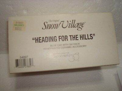 Dept. 56 Snow village accessory Heading For the hills.