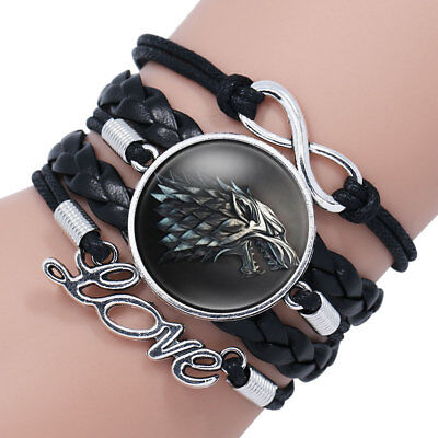 Armband Game of Thrones Stark Wolf Jon Snow Bracelet Geschenk Cosplay Serie