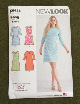 NEW LOOK EASY For Knits Dress Sewing Pattern K6428 New & un-used ...