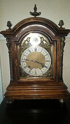 antique M @ B ting tang walnut  bracket clock