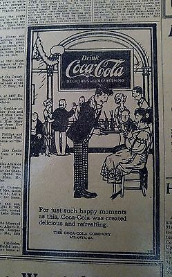 June 2, 1921 Newspaper Page #j5518- Coca-Cola- For Just So Happy Moments