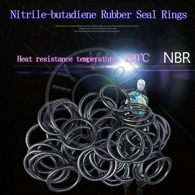100 x NBR Rubber O Ring Seal Plumbing Gasket WD 3.1 OD 115/118/120/125/130/135mm