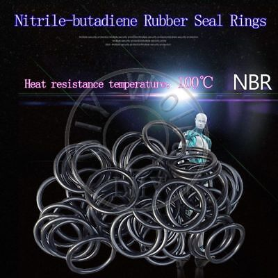 100 x NBR Rubber O Ring Seal Plumbing Gasket WD 3.1 OD 200/205/210/215/220/225mm