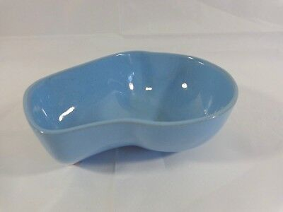 Frankoma Robin Egg Blue Bowl 4N Lazy Bones Kidney Shaped Vintage Pottery