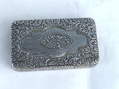 Superb Antique Solid Silver Snuff Box, Austrian/French c. 1860