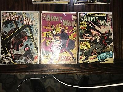 DC Comic LOT Three (3) Our Army At War #s 70 76 157 Nice