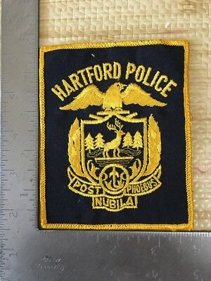 Hartford Connecticut Police Department Patch Ct Cheesecloth Reverse