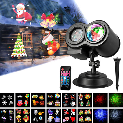 Led Projector Lights, Wave Light with 12 Slides Pattern 2 in 1 Outdoor/Indoor Pa