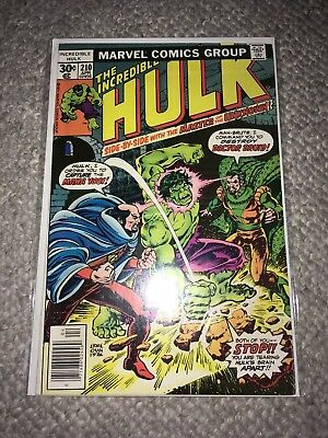 MARVEL 1977 THE INCREDIBLE HULK #210 - Very Good Condition