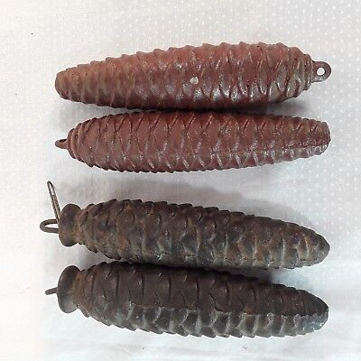 "Cuckoo Clock Pine Cone Weights Lot of 4 5.5"" and 5.25"""