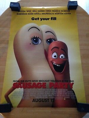"Sausage Party D/S Authentic Movie Poster 27""x40""*Seth Rogen"
