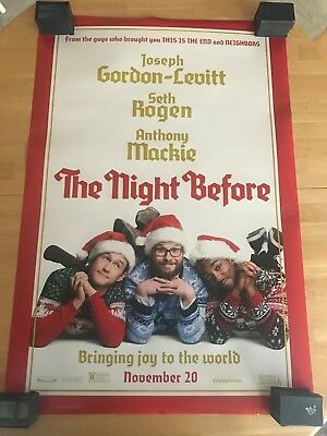 "The Night Before D/S Authentic Movie Poster 27""x40""*Seth Rogen"