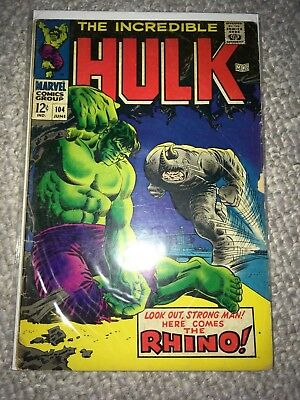 MARVEL 1968 THE INCREDIBLE HULK #104 - Very Good Condition