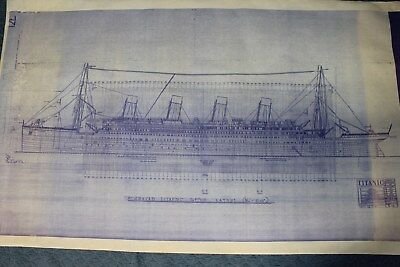 Titantic Blueprint -- Titanic Lightstorm Entertainment -- Drawing E4 -- 18-4-86