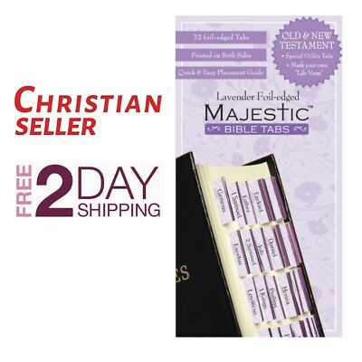Bible Indexing Tabs Majestic Lavender Foil Edged Old New Testament
