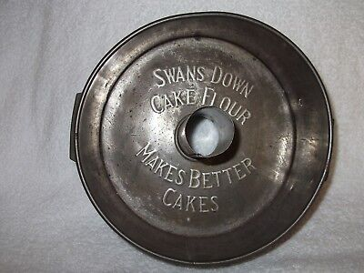 """Vintage """"Swans Down"""" Promotional Cake Pan  mfg by E Katzinger Co"""