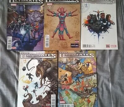 MARVEL comics: The Ultimates #1-5 Al Ewing/Kenneth Rocafort, First prints.