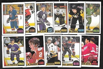 1987-88 Opc O Pee Chee Nhl Hockey Card 1-132 See List