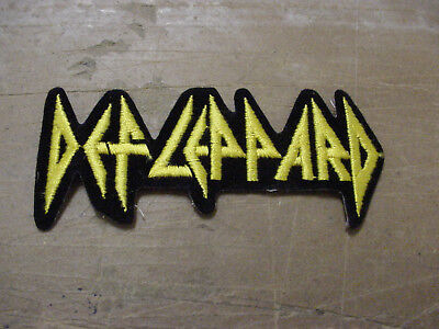 LOT OF 2 VINTAGE  DEF LEPPARD EMBROIDERED/  IRON  PATCH  --licensed