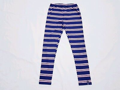 """Childrens Kids Girls Blue stripy Full Length Leggings Age 8,,"