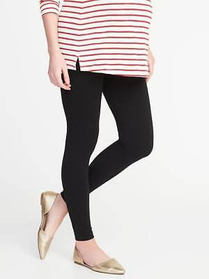 Old Navy Maternity Front-Low Panel Leggings in Black (1 Pair) ~ NWT ~ Size S