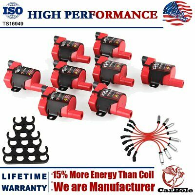 8 D585 Ignition Coils & Plug Pack For Chevy Silverado GMC LS1 LS3 4.8/5.3L UF262
