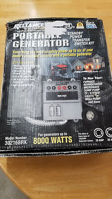 Reliance 30216BRK 6-circuit Generator Power Transfer Switch Kit NEW