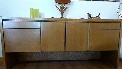 Oak, Mid Century Modern Credenza, Desk (dining Room Or Office) By