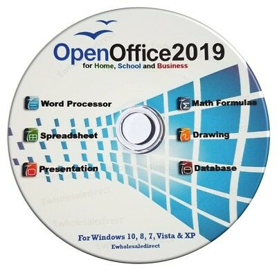 Open Office 2019 Suite Software CD Home Student Business for Microsoft Windows