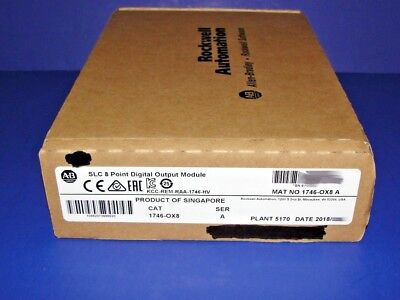 2018 FACTORY SEALED Allen Bradley 1746-OX8 /A Isolated Relay Output Module