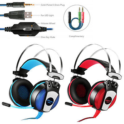 EACH GS500 Stereo Bass Surround Gaming Headsets for PS4 New Xbox One PC with Mic