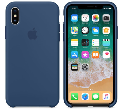 BLUE COBALT GENUINE ORIGINAL Apple Silicone Case NEW iPhone X RRP $39