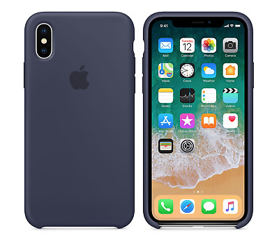 MIDNIGHT BLUE GENUINE ORIGINAL Apple Silicone Case NEW iPhone X RRP $39
