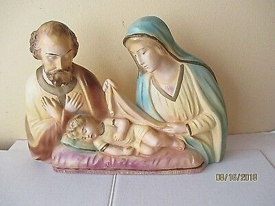 Vintage Large Statue Holy Family Jesus Mary Joseph Great Condition