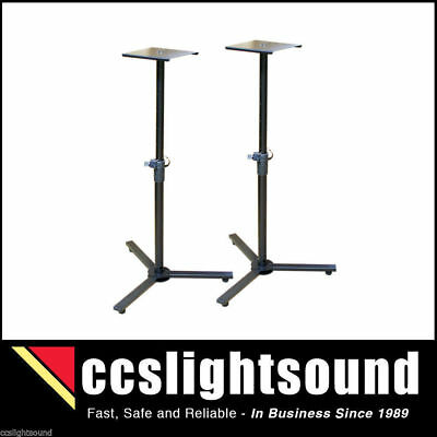 Pair Of Bravo Ap3330 Floor Standing Adjustable Monitor Speaker Stands