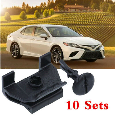 10 Sets Car Front Fender & Bumper Cover Clip & Pin Kit for Toyota Camry Corolla