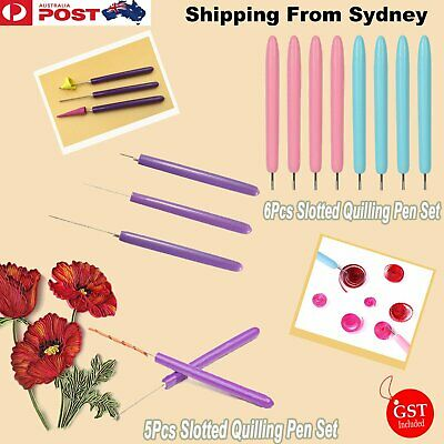 5/6x Slotted Paper Quilling Winder Roll DIY Origami Pen Craft Tool Handmade Quil