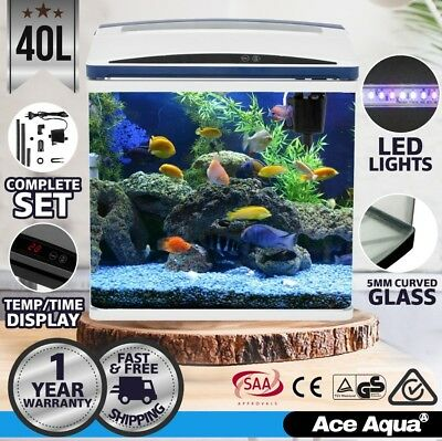 Ace Aqua 40L Fish Tank / Aquarium Curved Glass