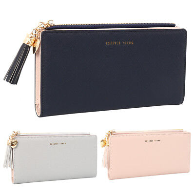 Women Zipper Purse Ladies Clutch Coin Wallet Phone Card Holder Handbag AU