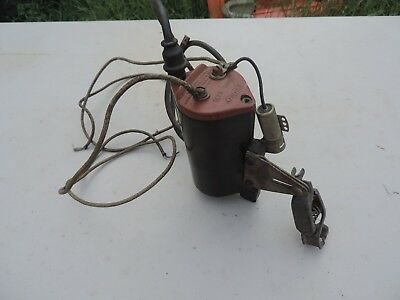 MALLORY 6V IGNITION Coil W Bracket Model C5000 Black Flathead SCTA