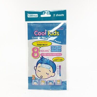 Gel pad for instant cooling sensation Gentle to baby 's skin soothes fever