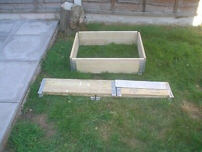 Small Used Wooden Pallet Collars/raised Beding Plants Compost Bins Many Uses