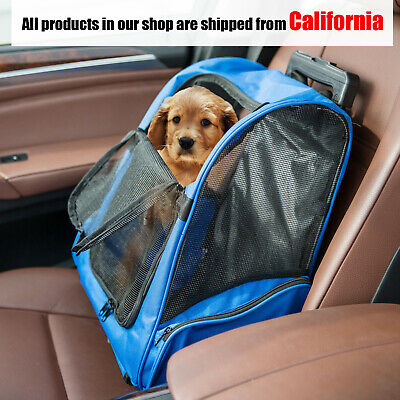 Pet Carrier Dog Cat Rolling BackPack Travel Wheel Luggage Bags Airline A	pproved