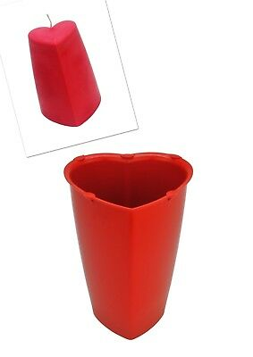 Valentine Heart Shaped Candle Making Mould, Tapered Sides, 120mm Tall. S7731