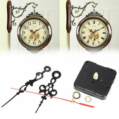 DIY Hands Wall Quartz Clock Mute Silver Spindle Movement Mechanism Repair Parts