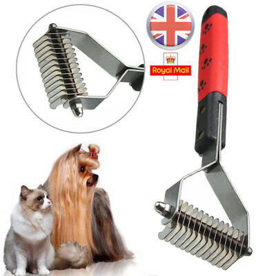 Pet Dog Cat Dematting Grooming Deshedding Trimmer Hair Fur Comb Brush Rake Tools