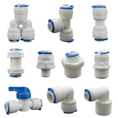 5PCS Push Fit Pipe Fittings Elbow Tee Y-shape Valve Connector For Water Aquarium