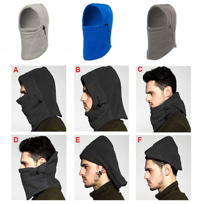 Motorcycle Fleece Balaclava Neck Full Face Mask Cap Winter Ski Thermal Cover Hat