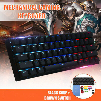 Obins ANNE PRO 2 Gateron Switch 60% RGB Mechanical Gaming Keyboard Bluetooth USB